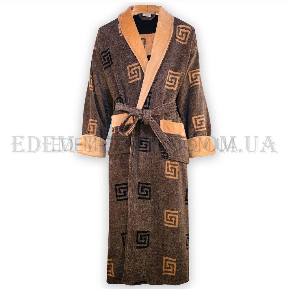 c51fbf11075f78 Халат велюровий чоловічий Nusa 2010 коричневий , XXL Купити в Україні
