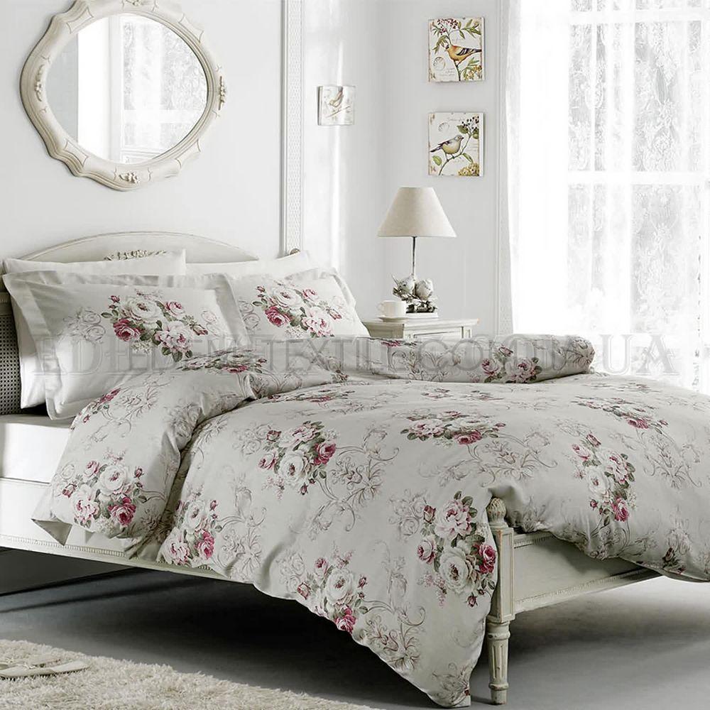 Постільна білизна в стилі прованс Rose Сірий купити по Україні fd8feca0a1143