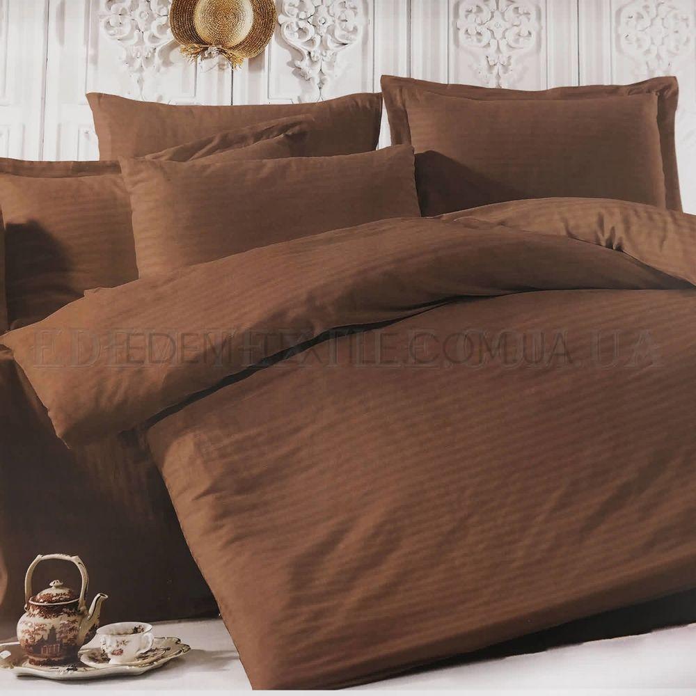 Постільна білизна коричнева однотонна євро Lorav Коричневий купити ... 63187085d6875