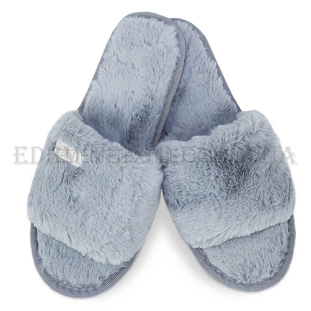 Хутряні тапочки шльопанці жіночі Shato сірий Сірий купити по Україні 3b84fed831047