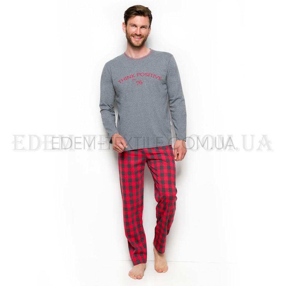 58d035c9d05a2 Мужская зимняя пижама с брюками в клетку Leo , M Купить в Украине
