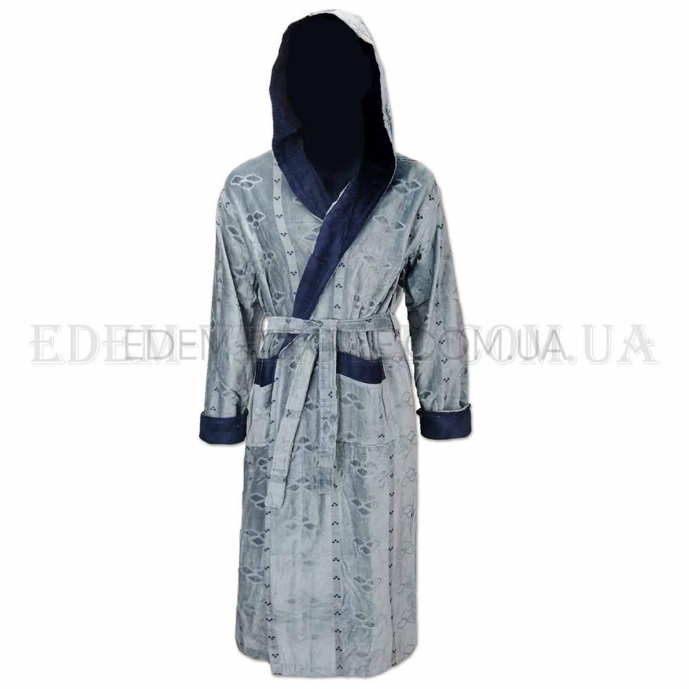 ac5270bb5c3feb Халат чоловічий сірий May Yener Лапки Сірий купити у Edem-Textile