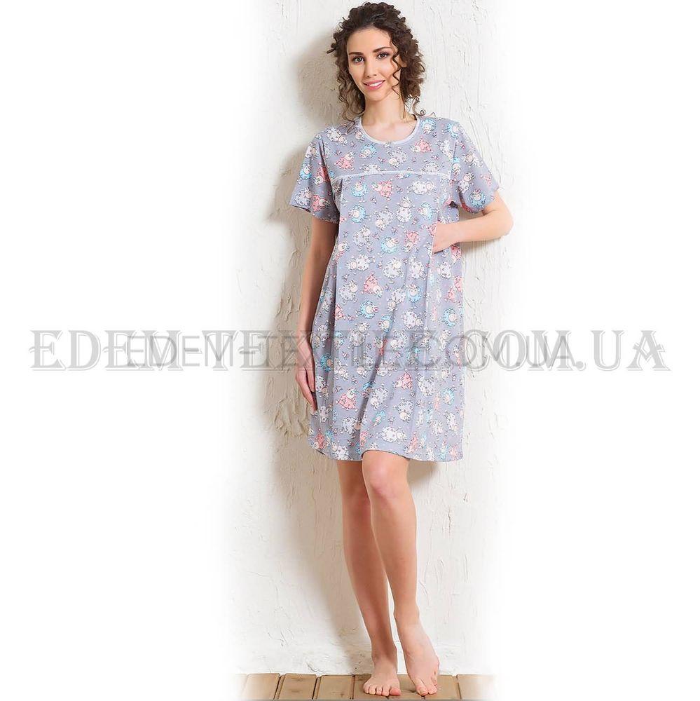 Сорочка жіноча для годуючих Vienetta Secret 604152 5704 голубий 33a6b99dfc06a