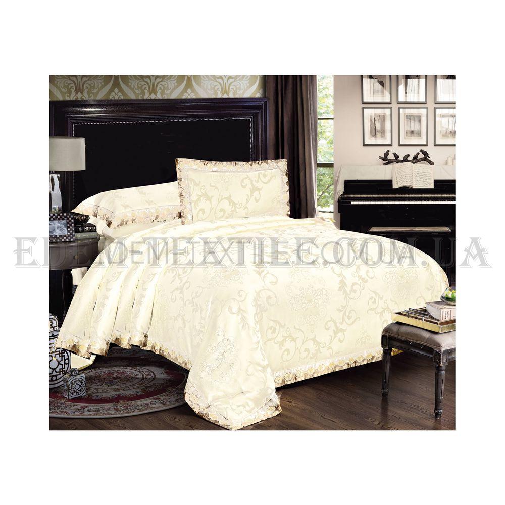 Постільна білизна Bella Villa 200х220 сатин J-0003 Кремовий купити ... ae8bf5bc4b607