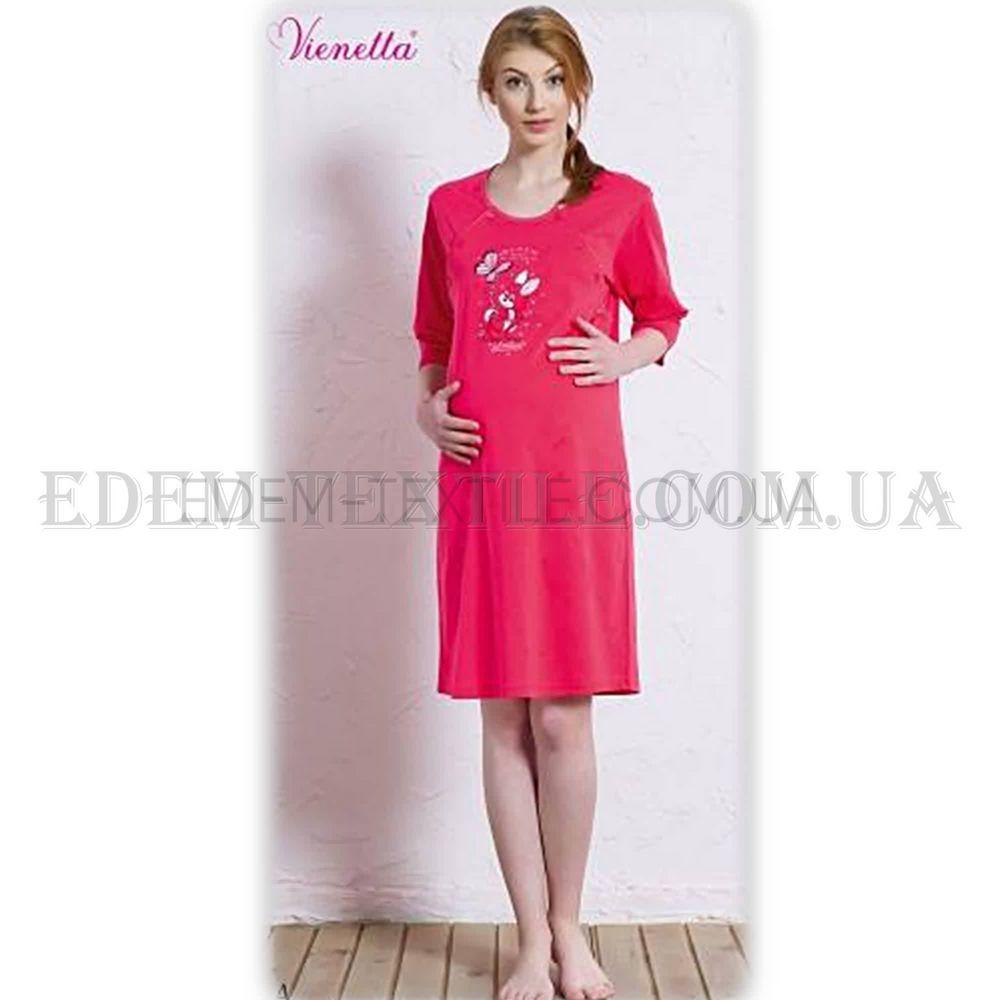 Рубашка женская для кормящих Vienetta Secret 5597 Малиновый Купить ... 87a7012cb1a26