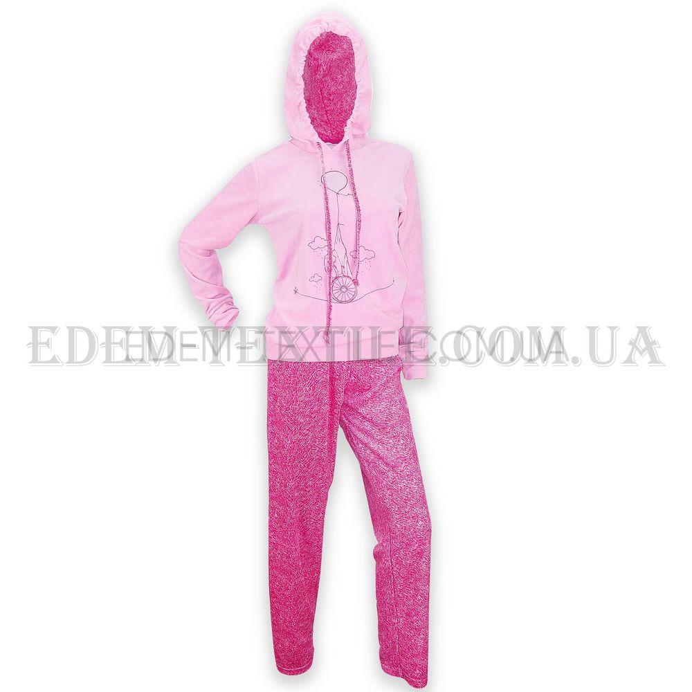Домашній костюм жіночий велюровий Vienetta Secret 5110 рожевий ... f5b5c9c3ab522