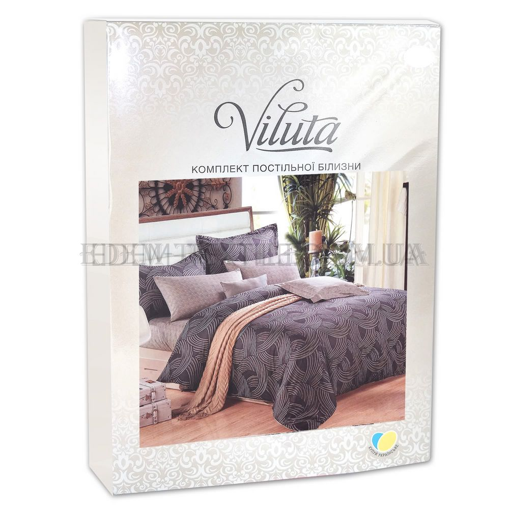 Постільна білизна ранфорс 175х210 Viluta 17501 Сірий купити по Україні ce3deadafc327