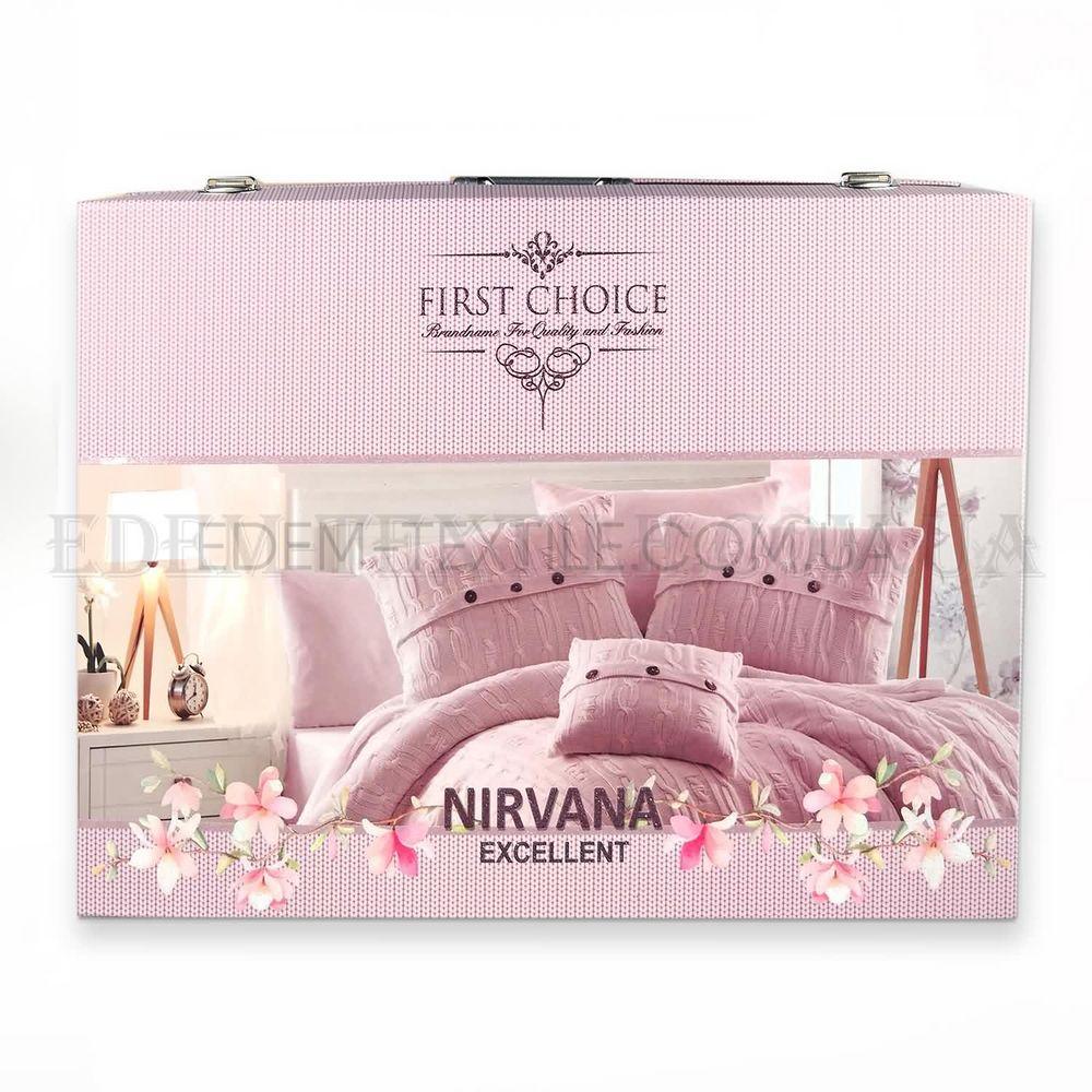 Набір постільної білизни з покривалом євро Nirvana Leylak Фіолетовий ... 8813d7f36071f