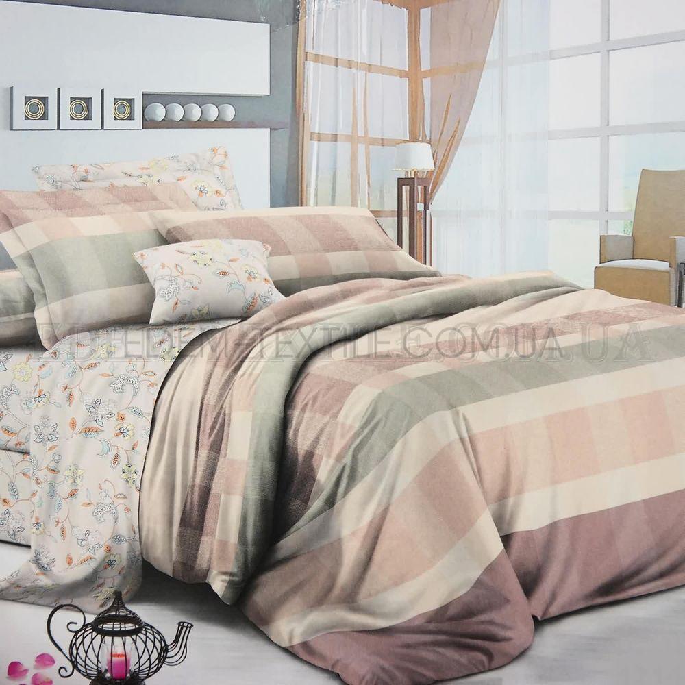 Двоспальна постіль в клітинку ранфорс Viluta 17146 купити по Україні bf2ecab2cf0d3