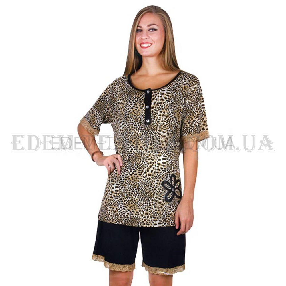 Пижама женская Bella Linda 9271 батал Леопард Купить по Украине 081ee7836baa7