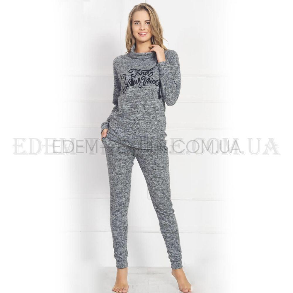 291767b0cc3 Домашний костюм женский трикотажний Vienetta 803284 Графитовый ...