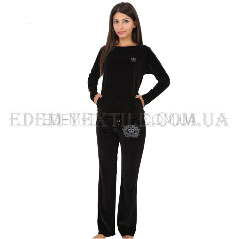Домашній костюм жіночий велюровий Vienetta Secret 4530 Чорний купити ... ffe15488d70fa