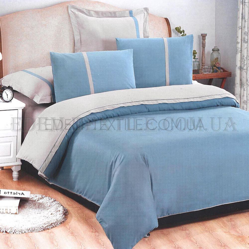 Однотонна постільна білизна сатин євро Tiare 21 Блакитний купити по ... a83e5bfc02301