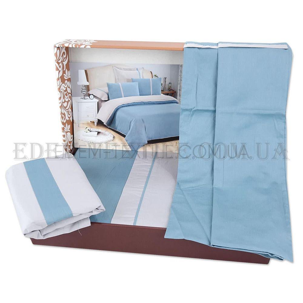 Однотонна постільна білизна сатин євро Tiare 21 Блакитний купити по ... 4853a9159589d
