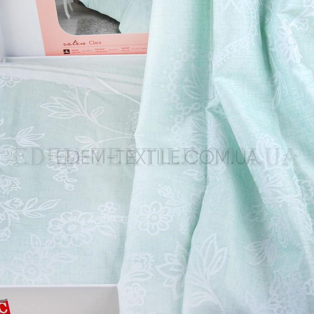Постільна білизна сатин Турція євро Tac Clara Mint Ментоловий купити ... b292b07286294