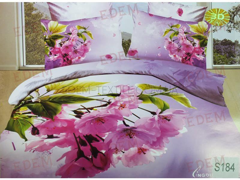 Постільна білизна Elway 200х220 сатин 3D Lux S-184 нав 50х70-2шт 70х70-2шт  Бузковий купити по Україні af490a7dea893