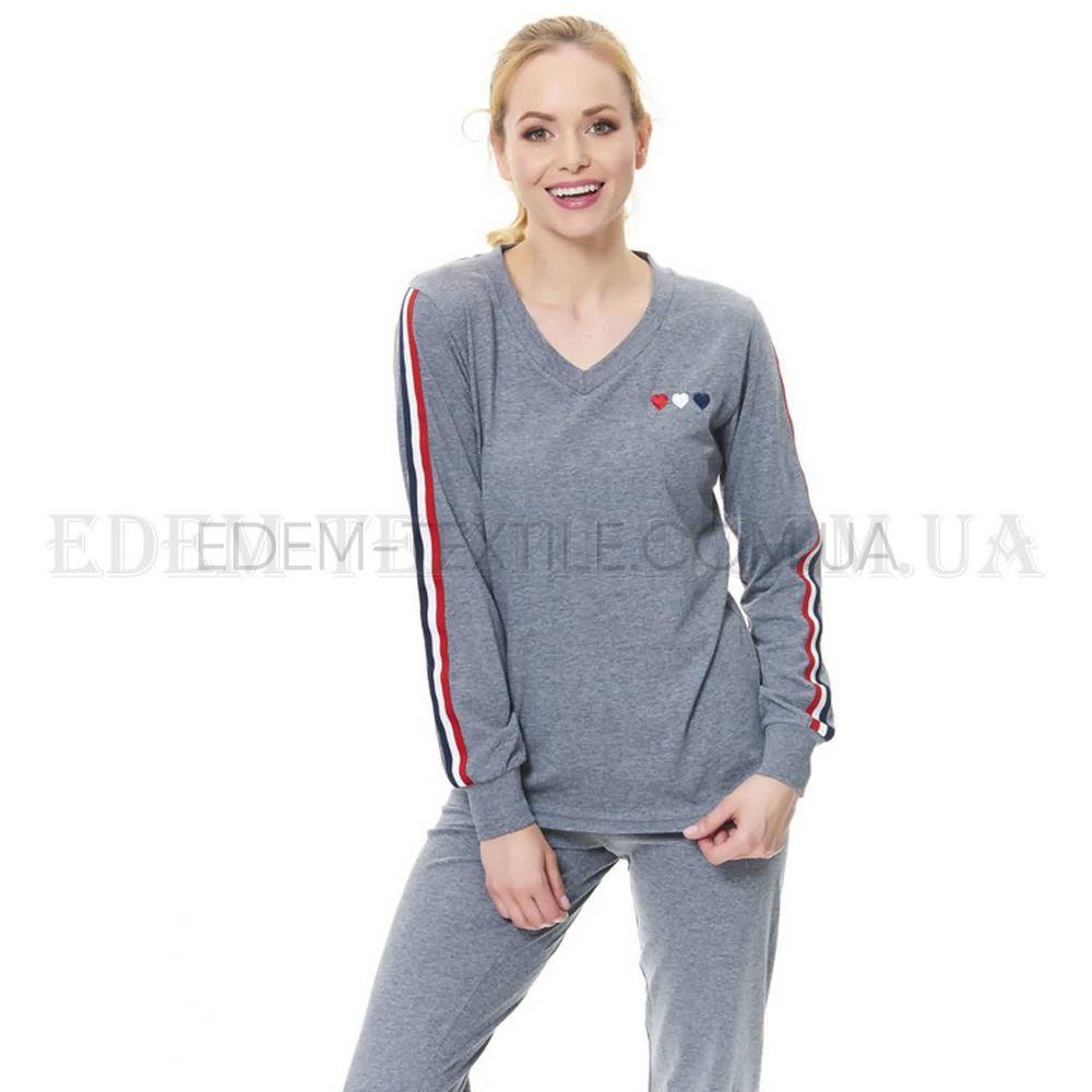 Стильна жіноча піжама з манжетом Dobranocka 9501 Сірий купити по Україні b64982f98aee1