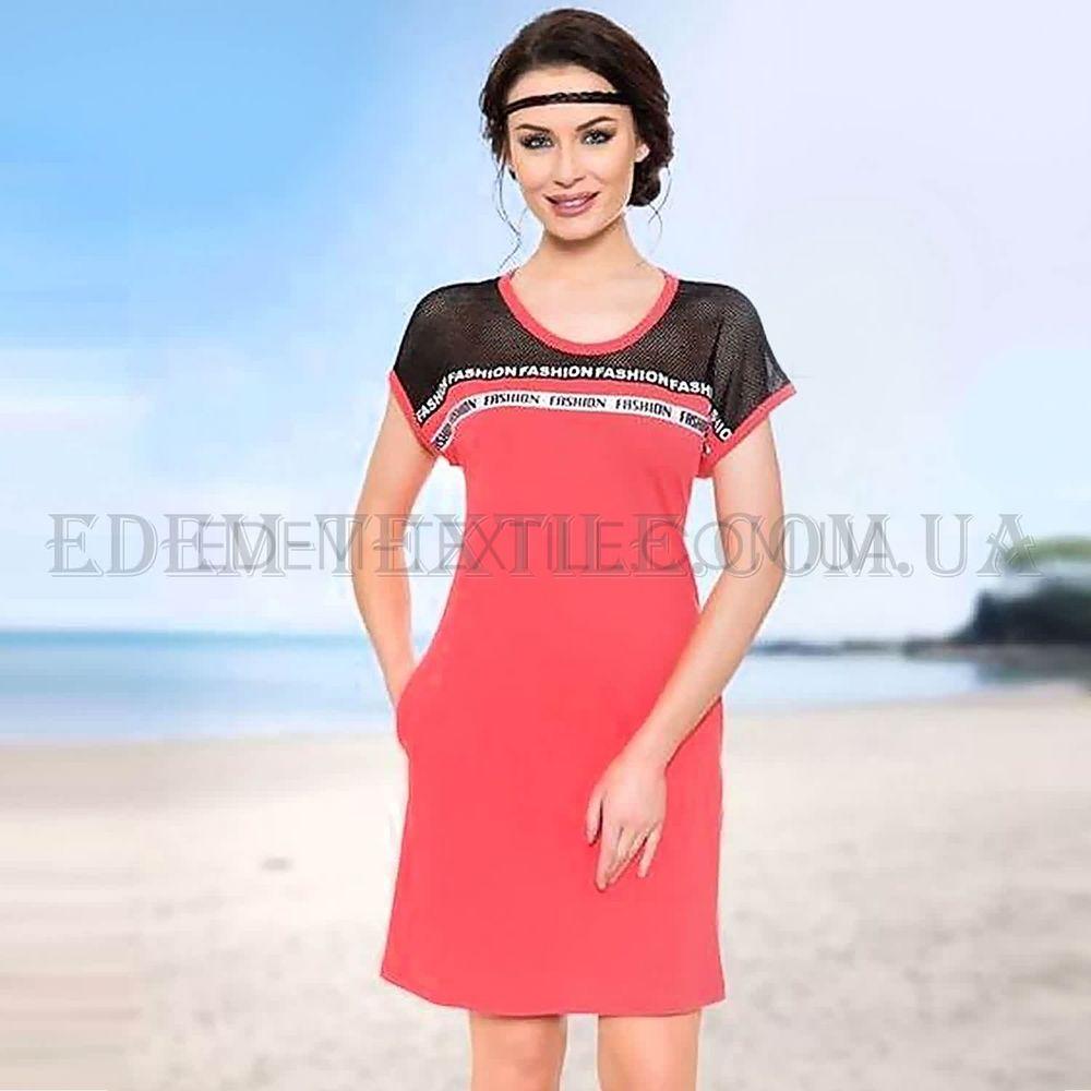 Літня сукня з карманами для відпочинку 12655 кораловий купити по Україні f2004319b8914