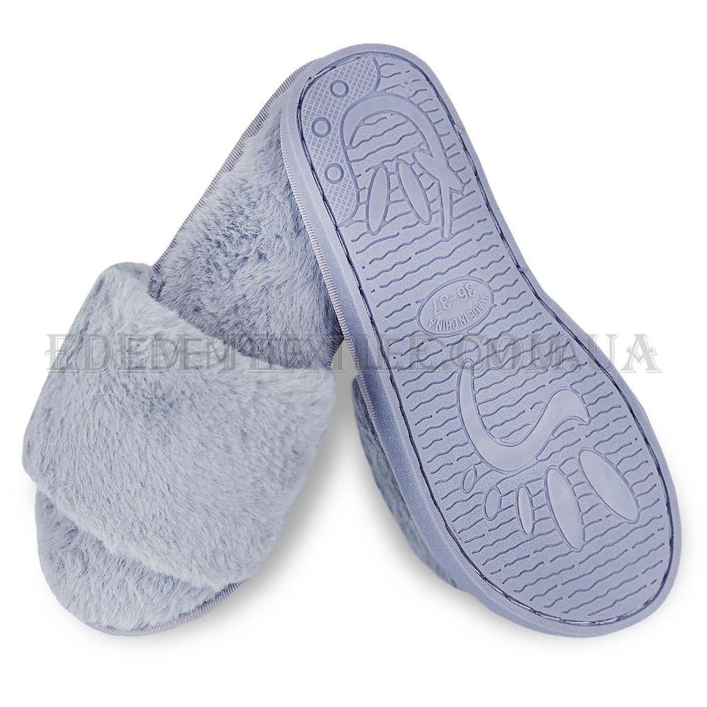 Модні тапки з хутром Shato сірий 01 купити по Україні e9e560cd50f8a