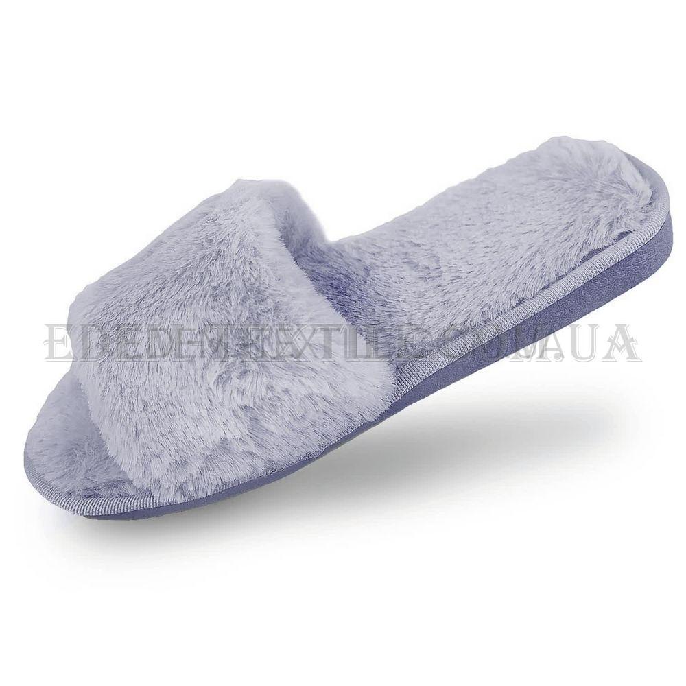 Модні тапки з хутром Shato сірий 01 купити по Україні eac1812e340c9