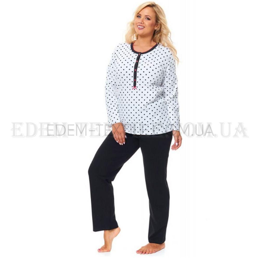 Піжама жіноча в горошок Батал Dobranocka 9547 купити по Україні de05535cab900