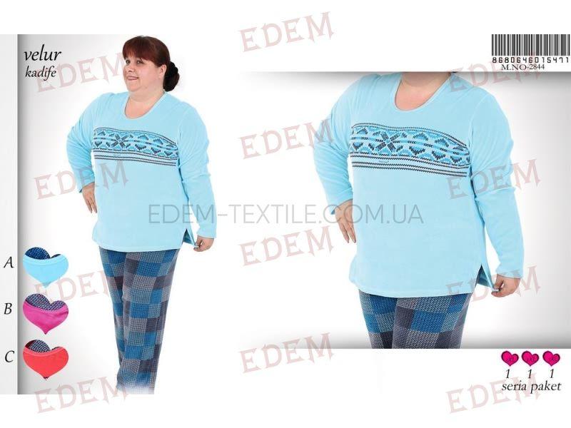 Домашній костюм жіночий велюровий Vienetta Secret 5471 купити по Україні 37ed2c71f1bab