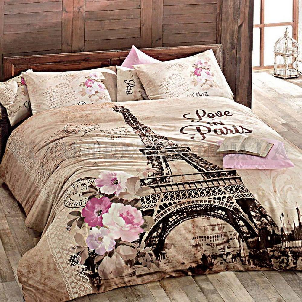 Постільна білизна Issimo Home Paris Ranforce 160х220 Бежевий купити ... 2365100911c52