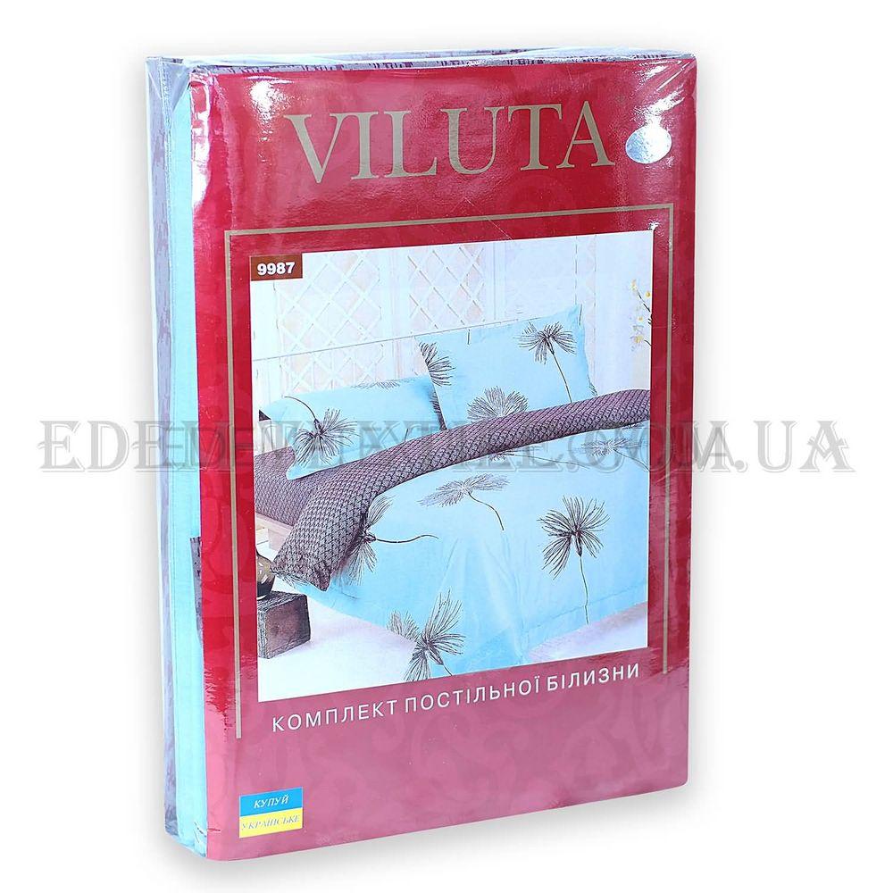 Постільна білизна Viluta 175х215 ранфорс 9987 Бірюзовий купити по ... 6eb8b6335ec52