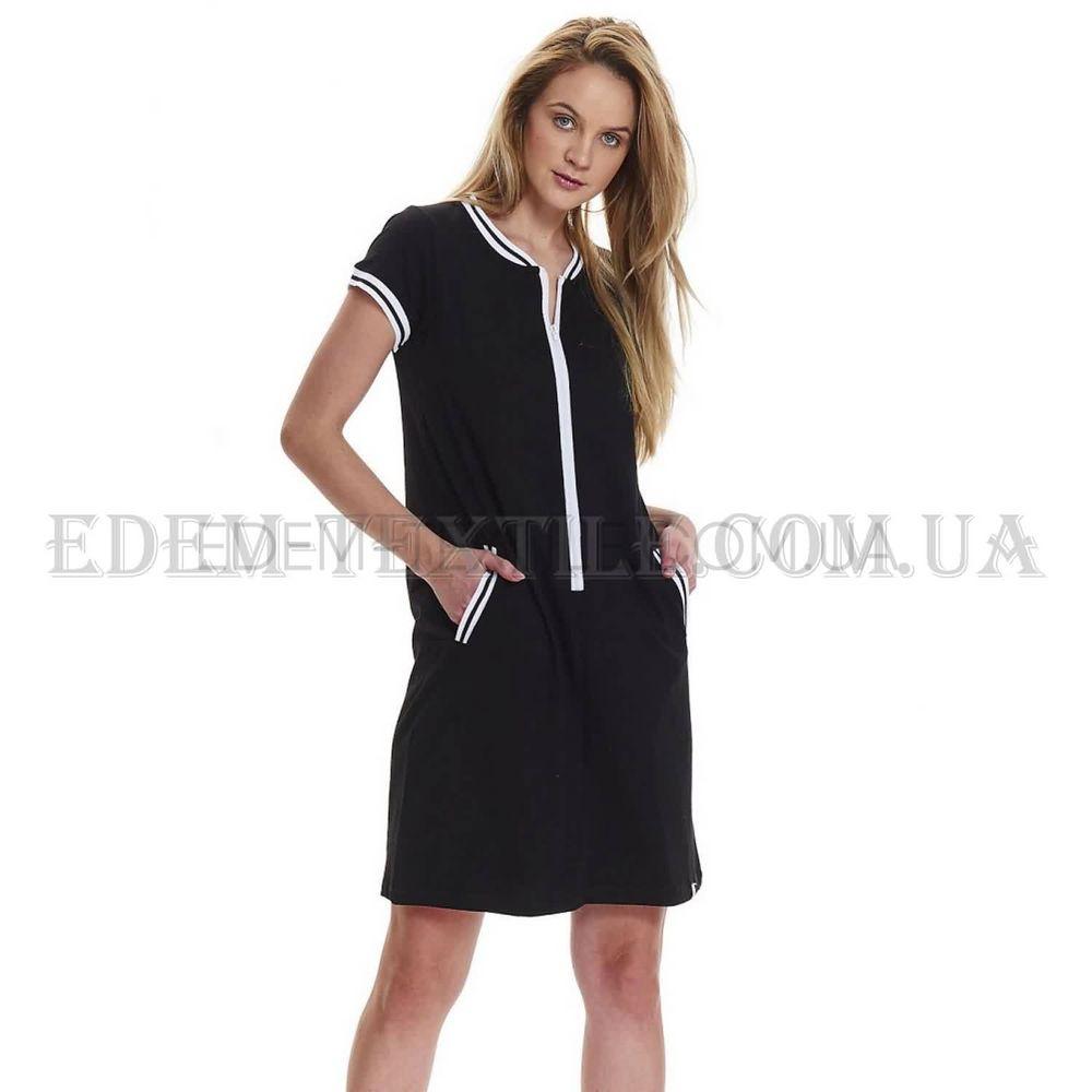 Нічна сорочка для вагітних та годуючих Dobranocka 9454 Чорна ca537c7166704