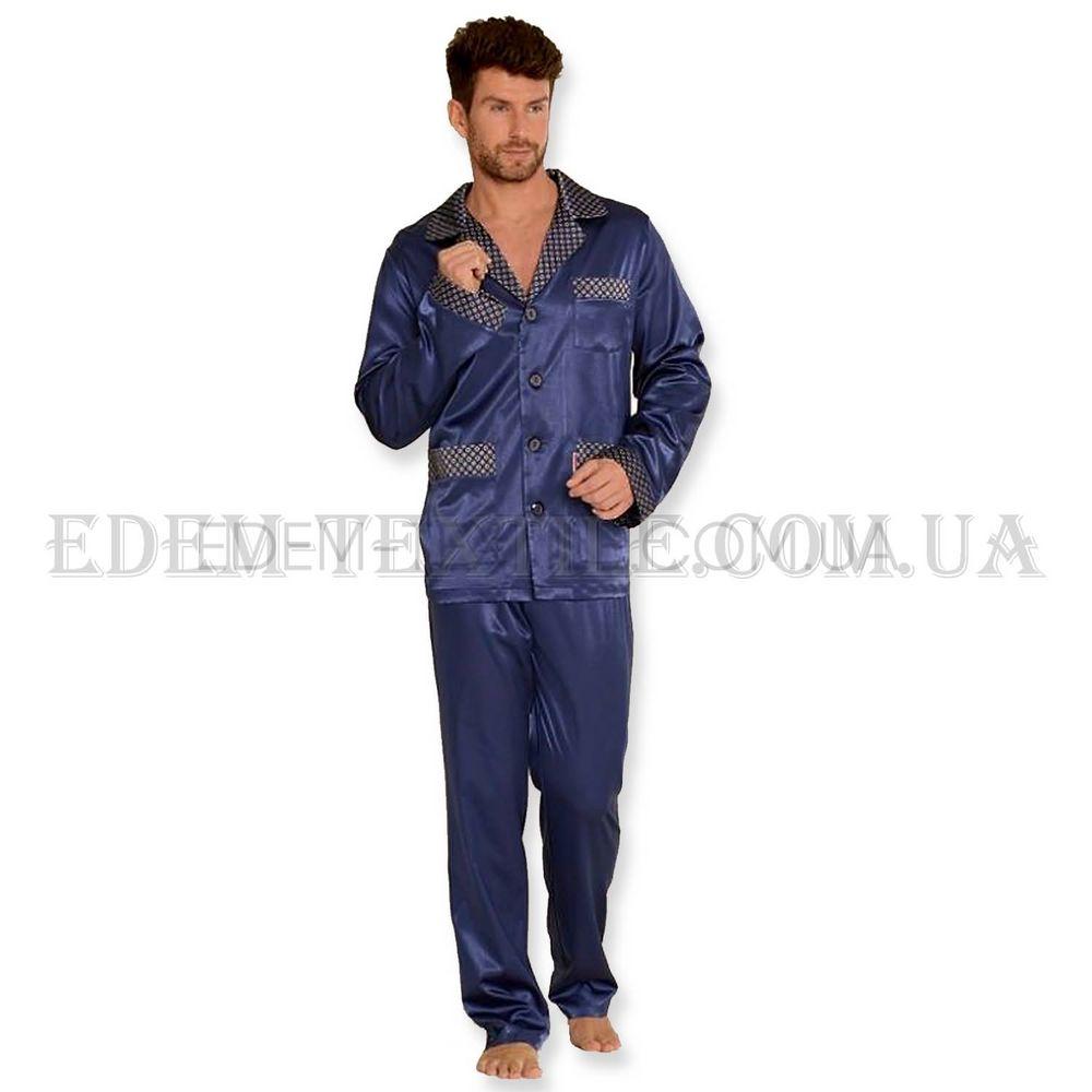Пижама мужская шелковая De Lafense Satina 939 Синий Купить по Украине 618acbe39eb42