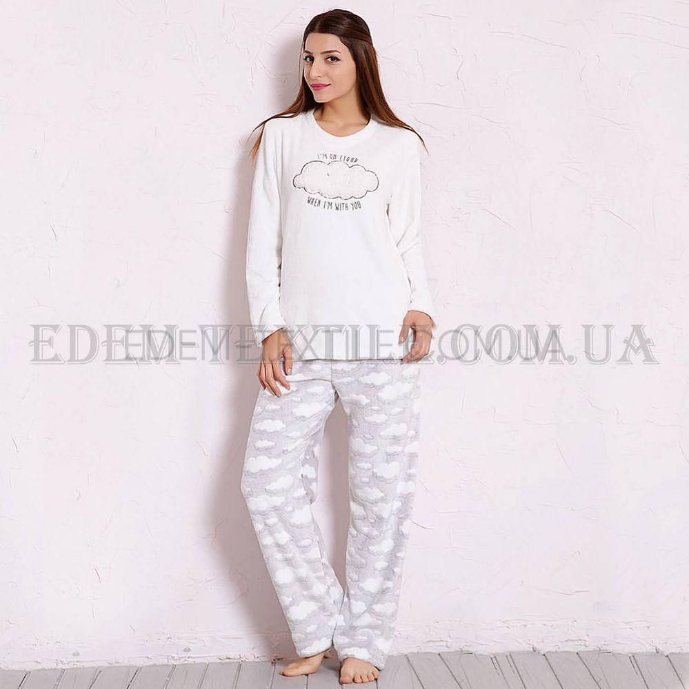 5be1a77b9bf2d теплая пижама женская Vienetta Secret 3289 белый купить по украине