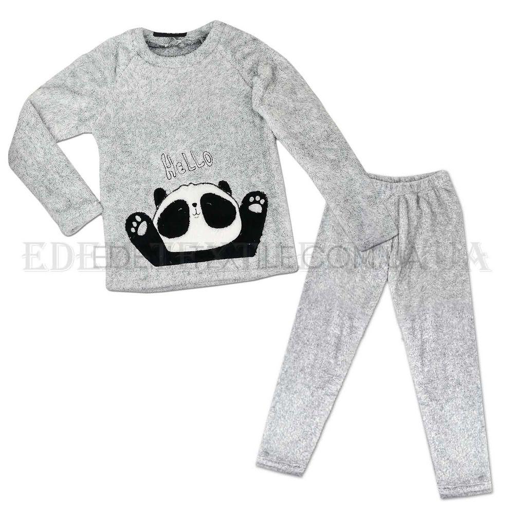 Теплая женская пижама Софт Cocoon 5177 серая с Пандой Серый Купить ... ec6b524988bbf