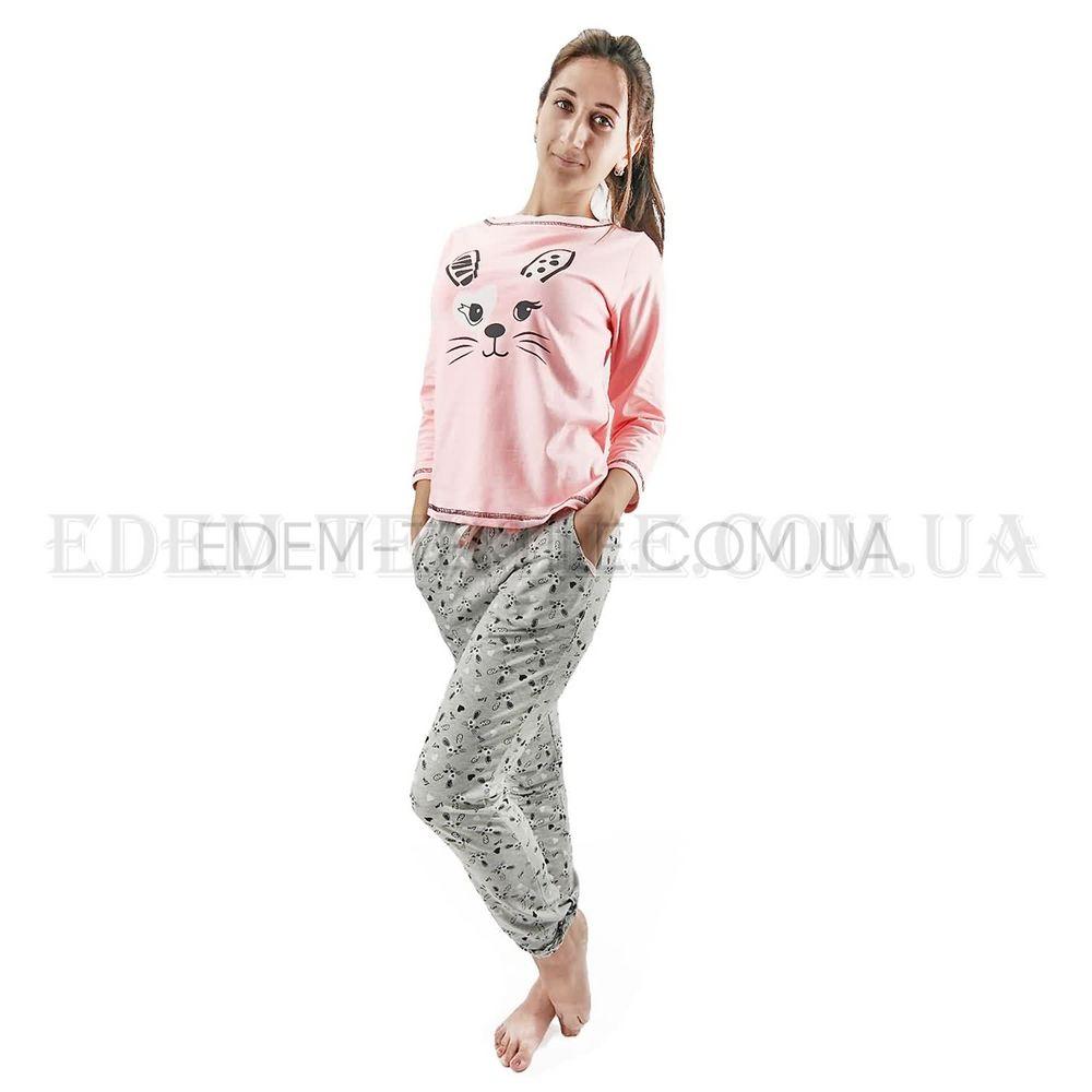 499ff1981c74 Ночная пижама женская с брюками Зайчики Lush 1552 Розовый, S Купить ...