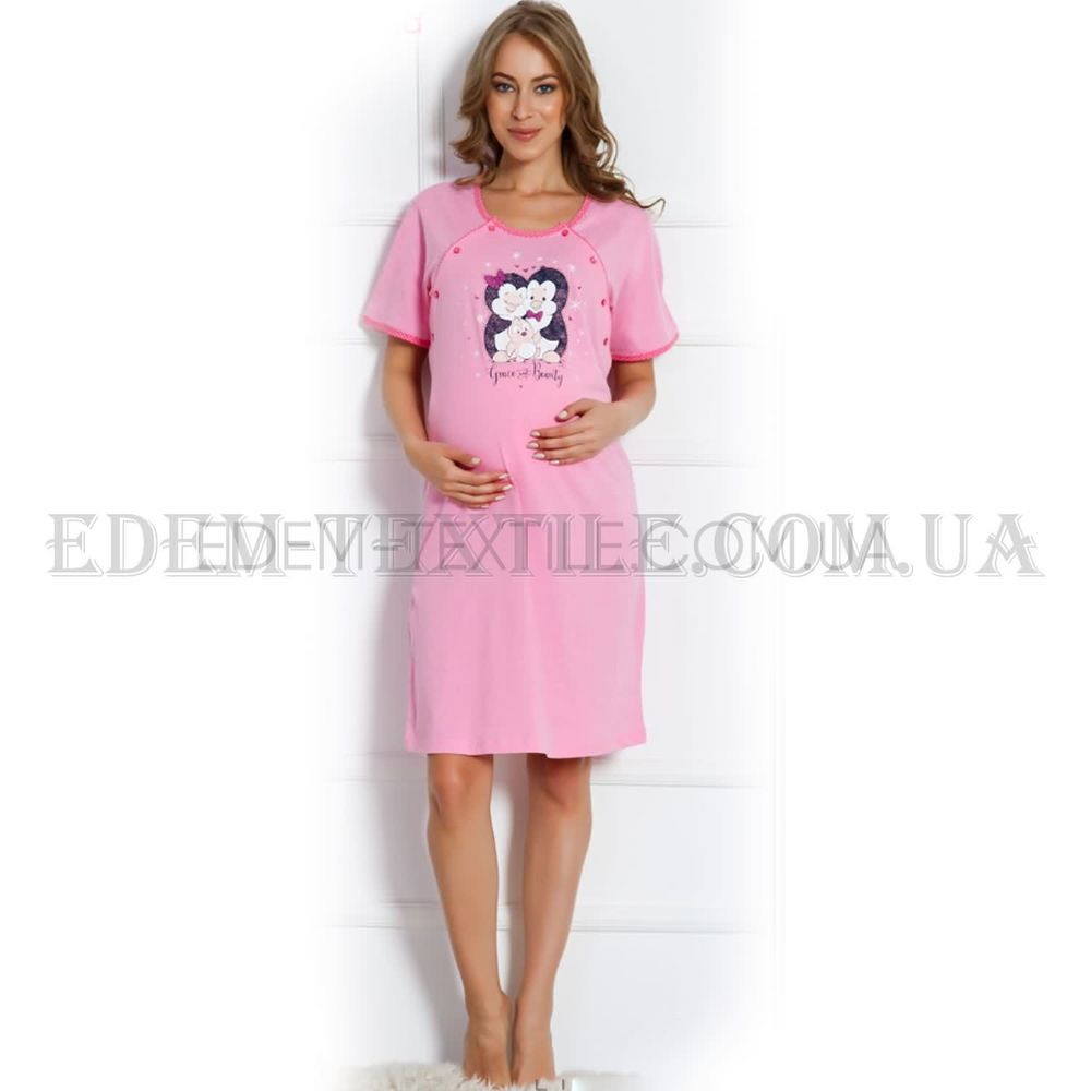 3e4d99cd7d235cb Ночнушка в роддом Vienetta 703089 Розовый, S Купить в Украине