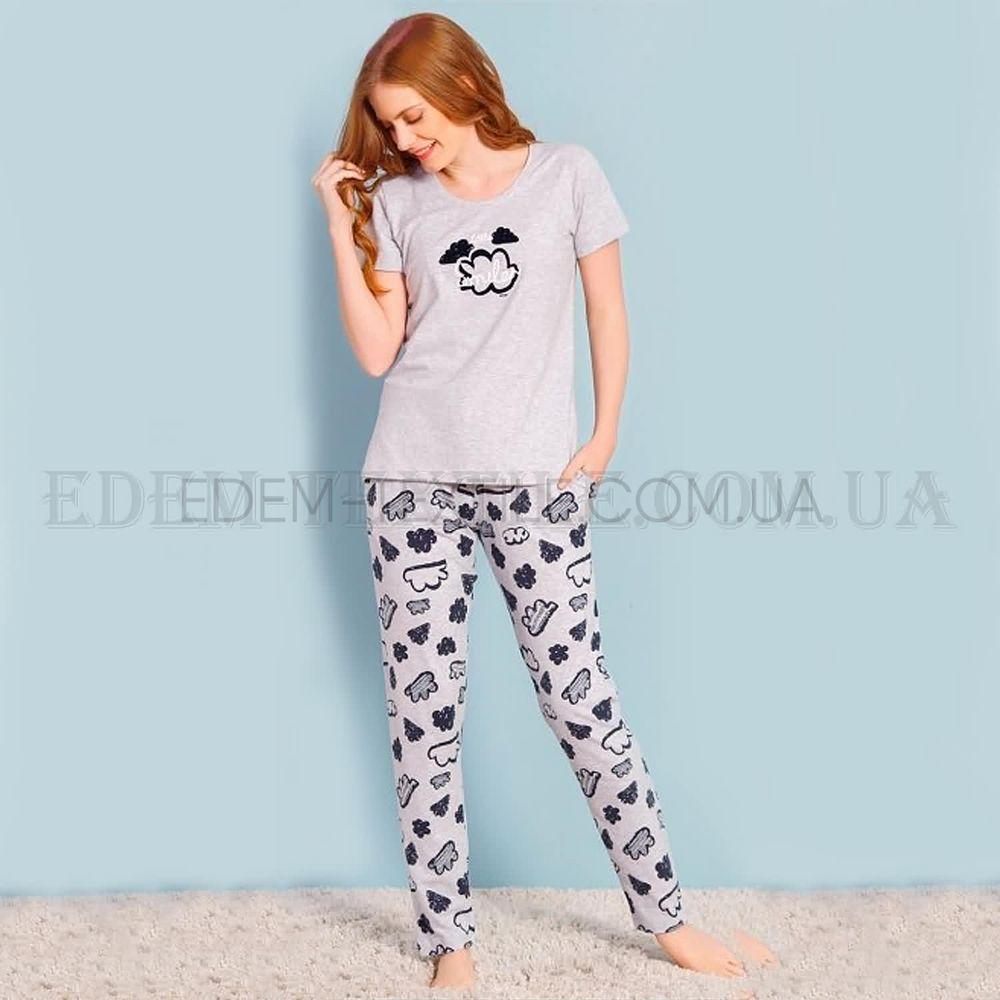 Пижама женская футболка и штаны Vienetta Облака Купить по Украине 38535b807bd7c