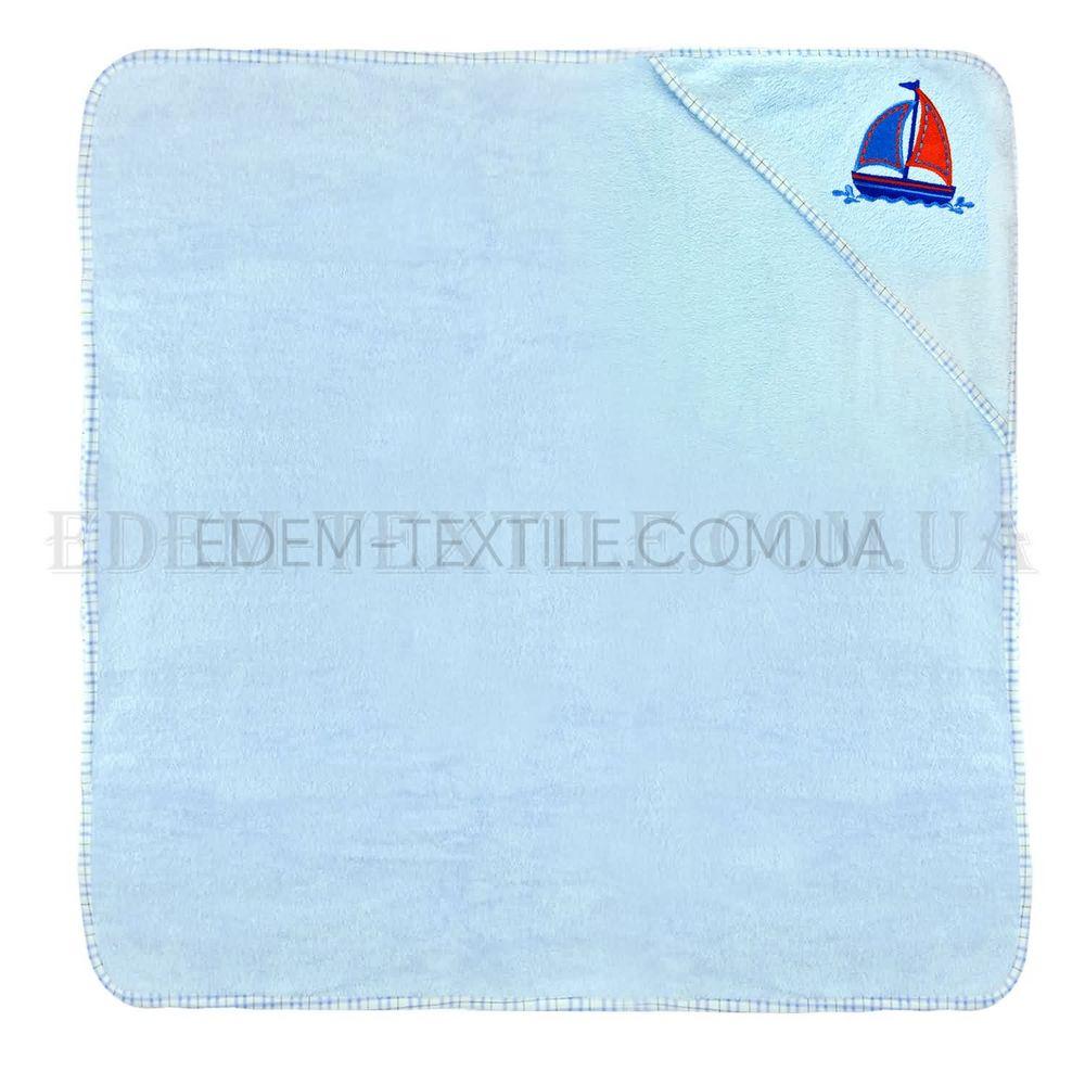 Рушник куточок для новонародженого Кораблик Блакитний купити по Україні 997d05d281be0