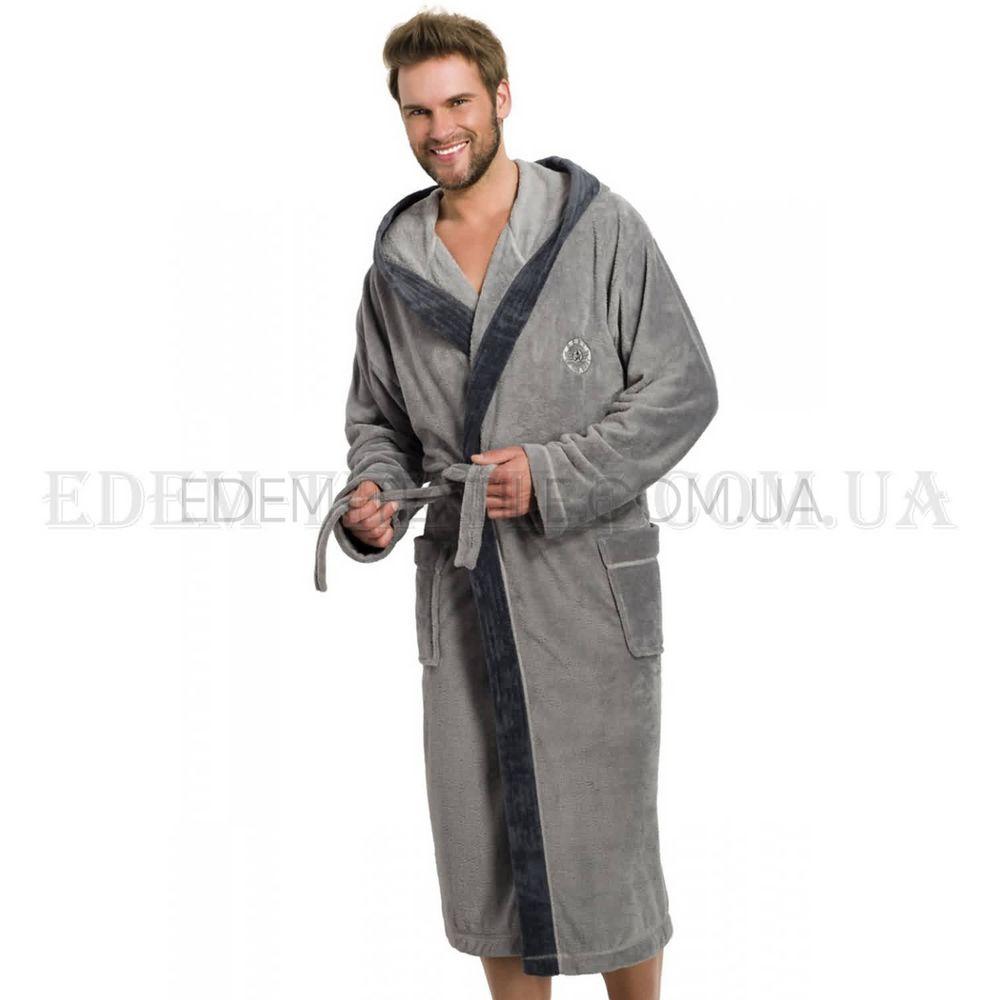 6e0c4aa1e8ed7f Теплий чоловічий халат з капюшоном L&L George , M Купити в Україні