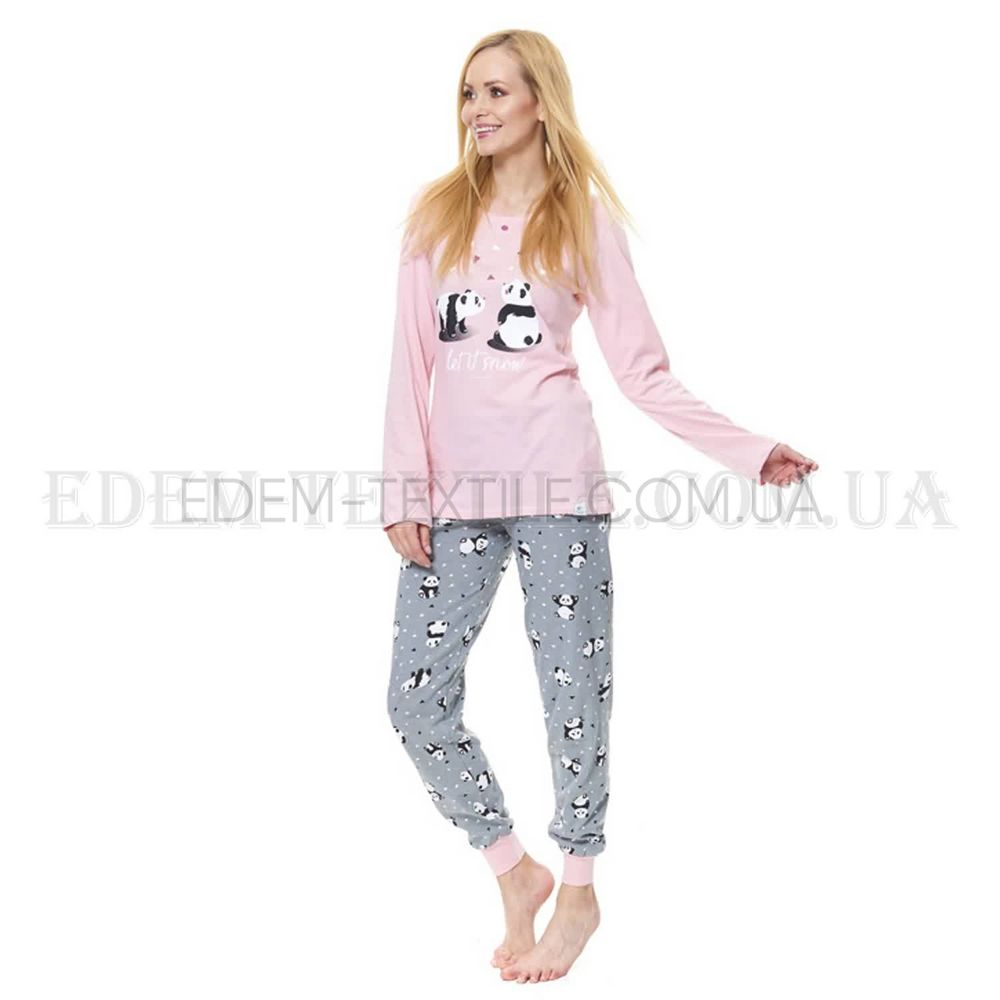 Пижама женская с манжетами Панда Dobranocka 9516 Розовый Купить по ... cda7041f763a4