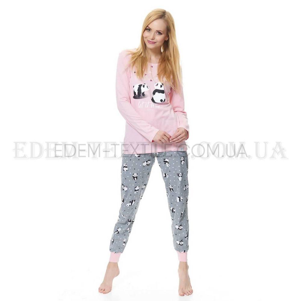 Піжама жіноча з манжетами Панда Dobranocka 9516 Рожевий купити по ... 72c1d018d419d