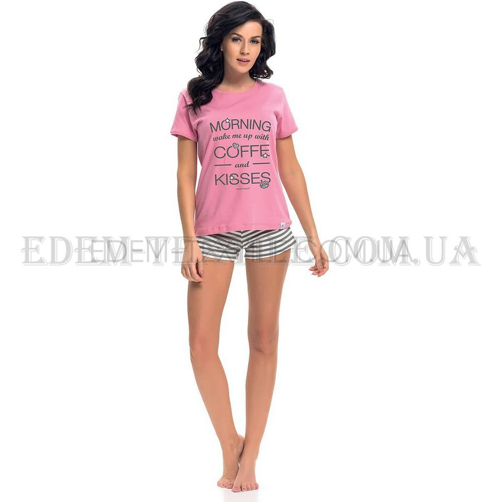 Піжама жіноча футболка шорти Dobranocka 9219 рожевий Рожевий купити ... 47d54e87e7f28