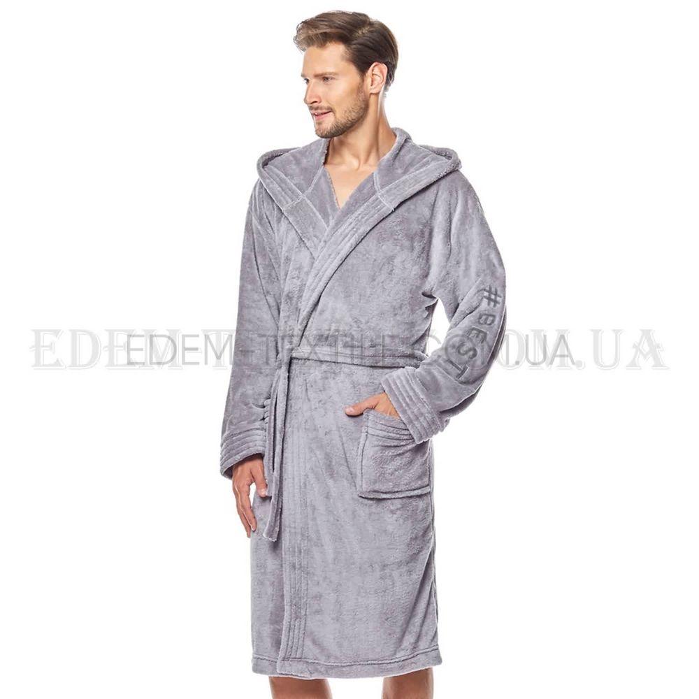 ffe85b444ca5 Пушистый халат мужской с капюшоном L&L 8133 , M Купить в Украине