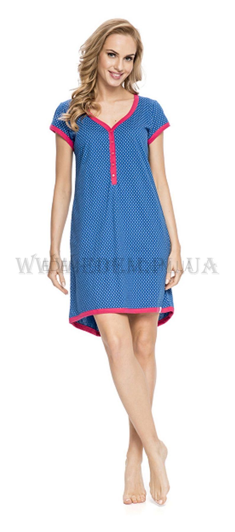Рубашка женская Dobranocka 5038 Синий Купить по Украине 587887a8c66df