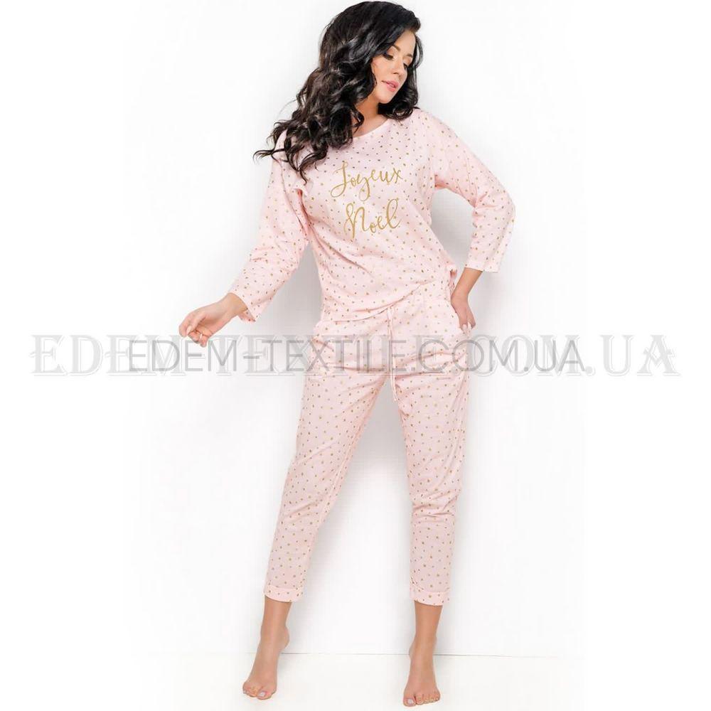 Стильна жіноча піжама в горошок Taro Jurata Персиковий купити по Україні 4f04206255cec