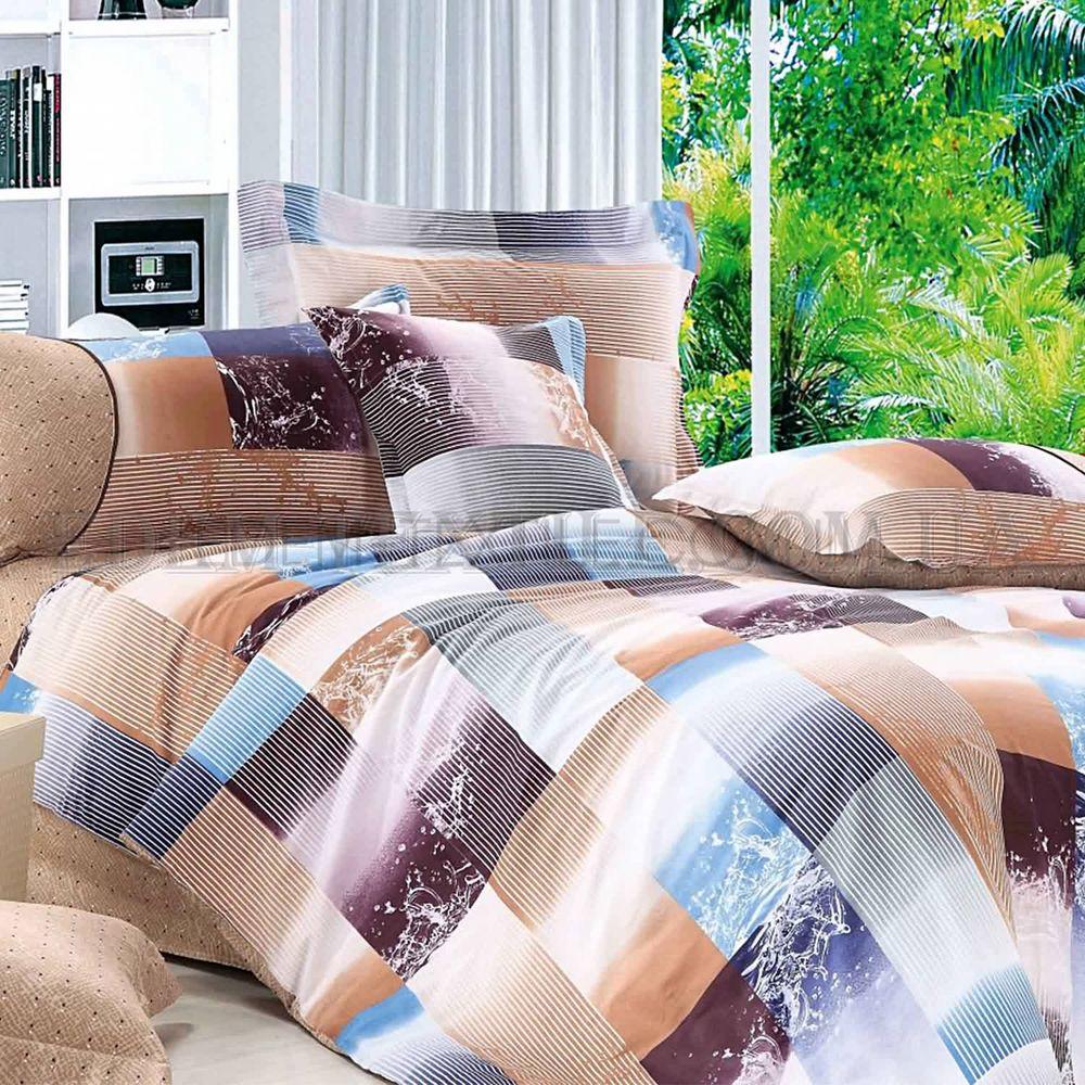 Постільна білизна Home Line 200х220 сатин Квадрати Коричневий купити ... e36c46df64e44