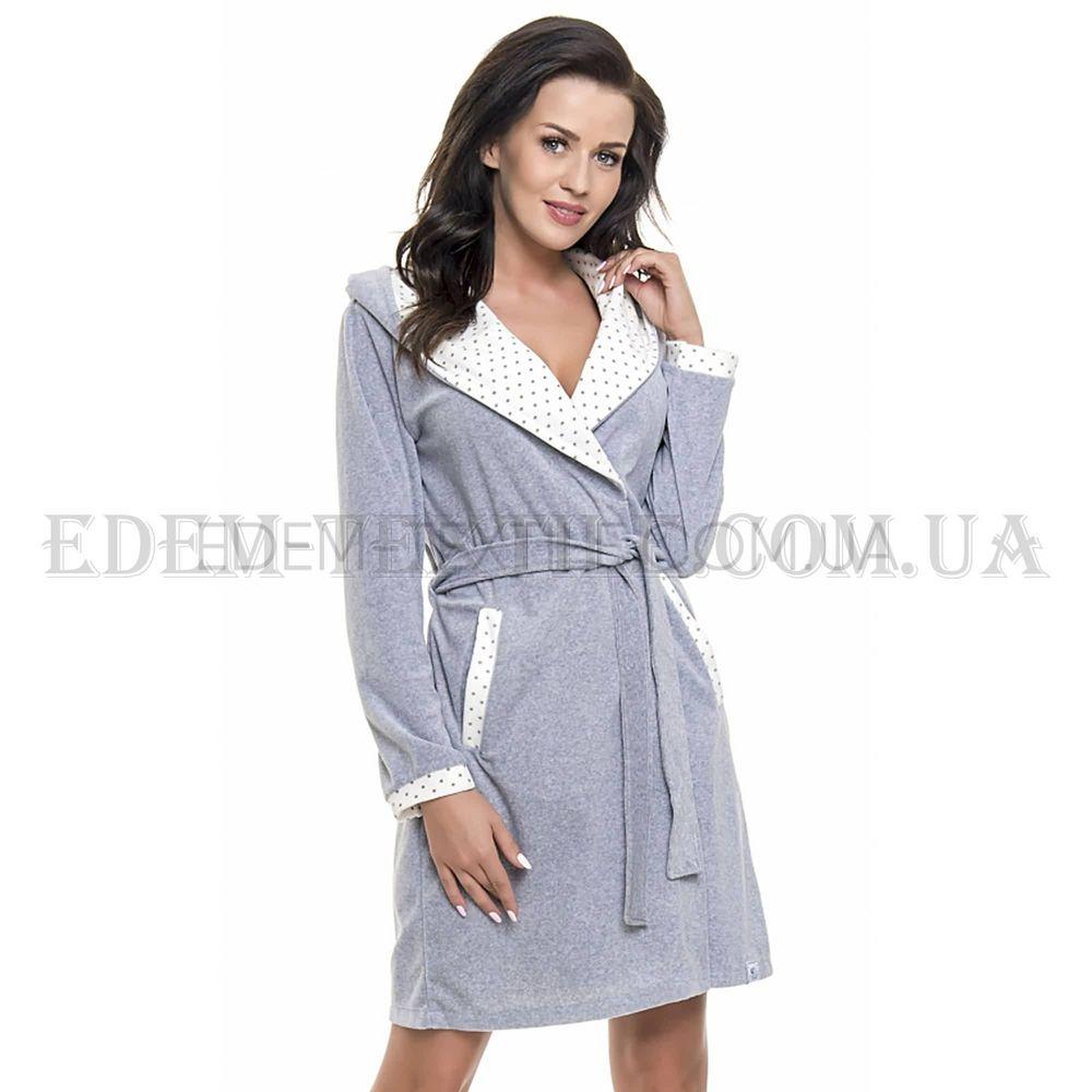 Халат жіночий велюровий Dobranocka 9072 Сірий меланж Сірий купити по ... 20989122e1c90