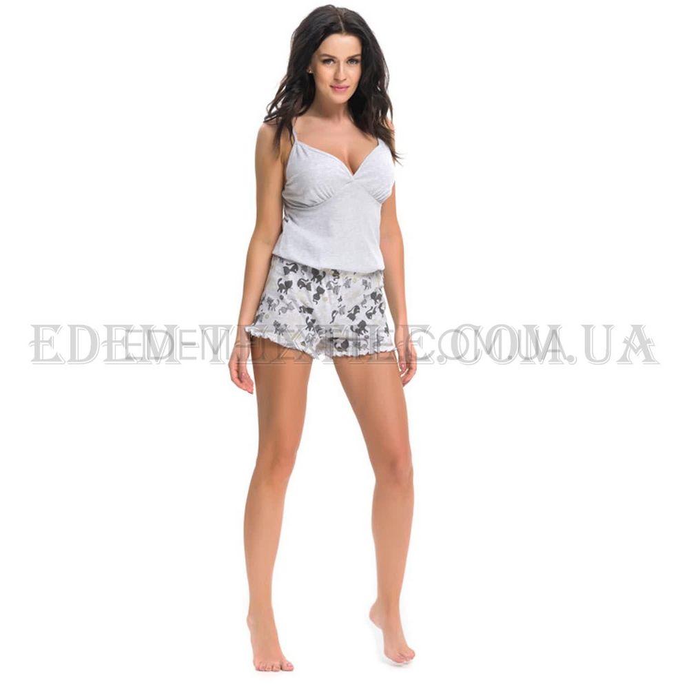 Пижама с шортами женская Dobranocka 9245 Серый Купить по Украине ea75700253e54