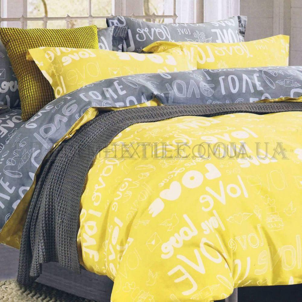 Постільна білизна полуторна Сатин твіл Viluta 107 Жовтий купити по ... c66064804a907
