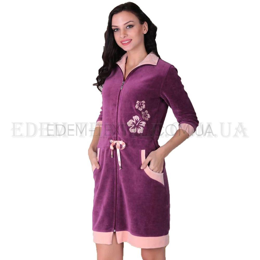 2d6b03284fe1 Красивый халат с карманами для женщин Cocoon Фиолетовый, S Купить в ...