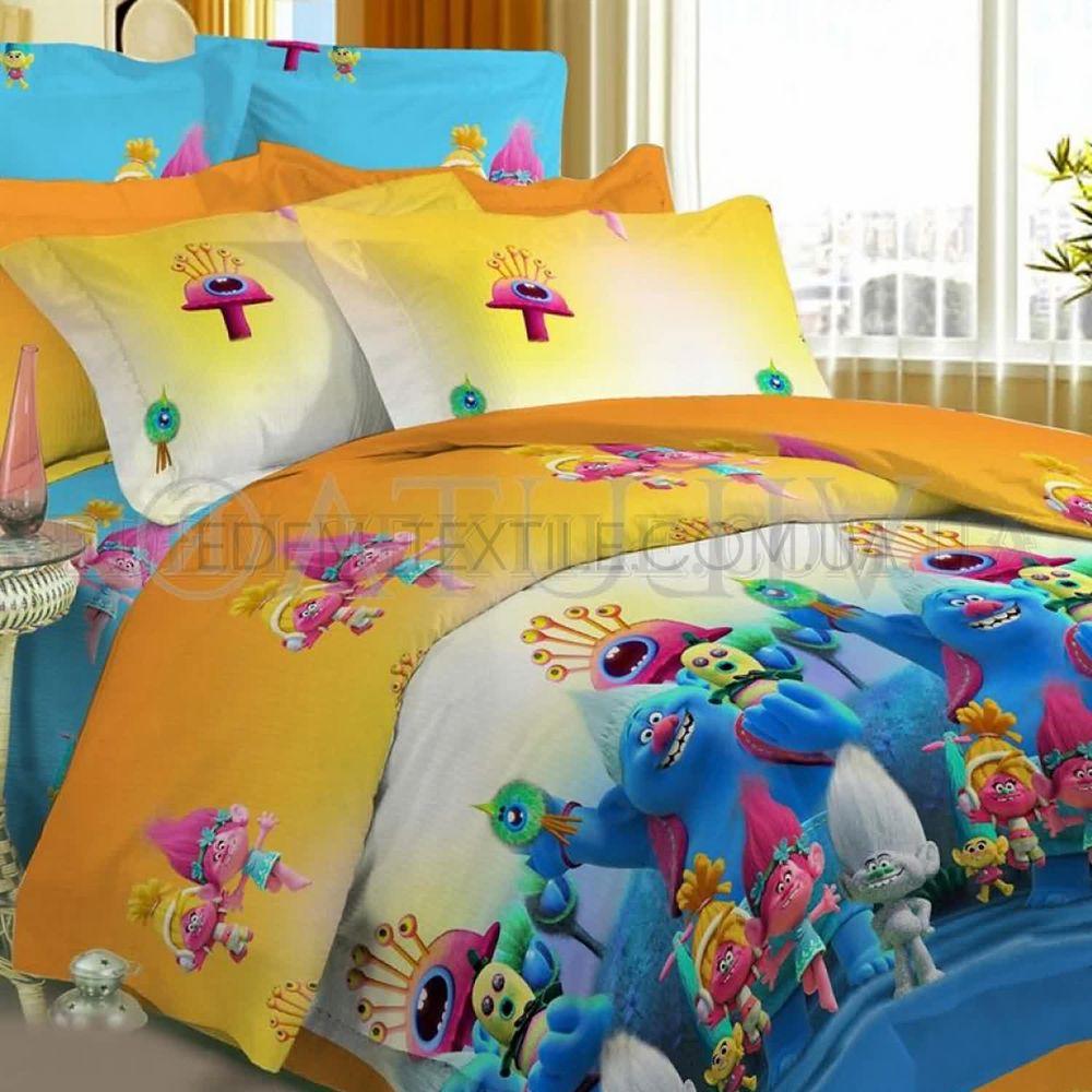 55c337585fcc Подростковая постель Тролли ранфорс Viluta Купить в Edem-Textile