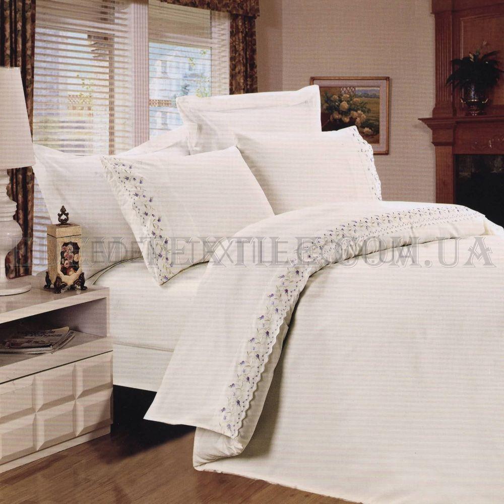 Постільна білизна Tiffany 200х220 сатин мереживо TF-B-0005 N ЛЕ Флер ... 5d7d53ce51a1f